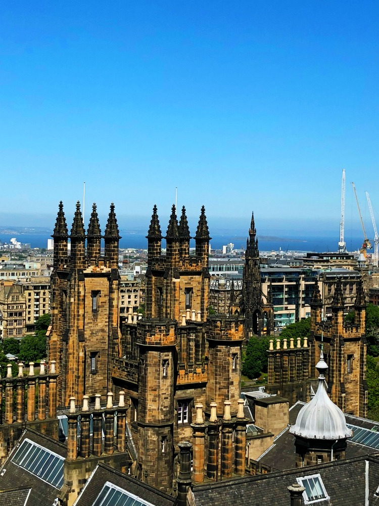 48 hours in Edinburgh - Camera Obscura rooftop