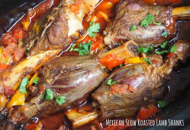 Slow Cooker Mexican Lamb Shanks