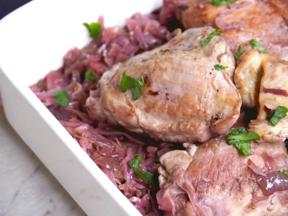 Slow Cooker Chicken with Red Cabbage 2