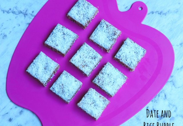 Date and Rice Bubble Slice