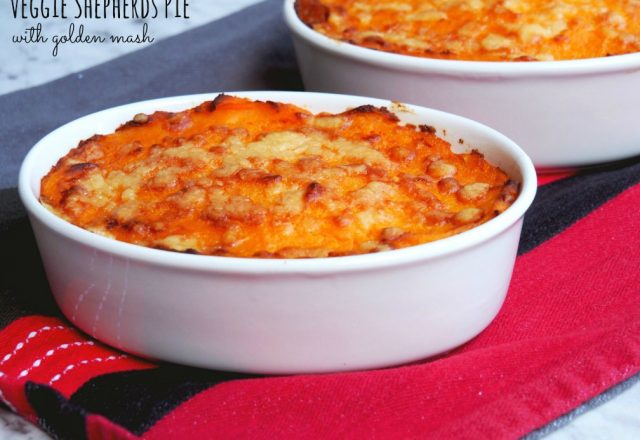 Meatless Monday –  Veggie Shepherd's Pie with Golden Mash