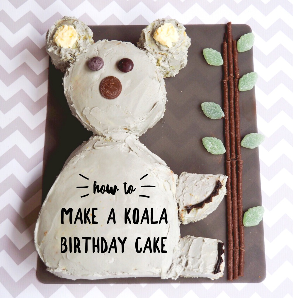 How to make a Koala birthday cake