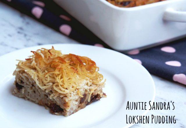 Auntie Sandra's Lokshen Pudding