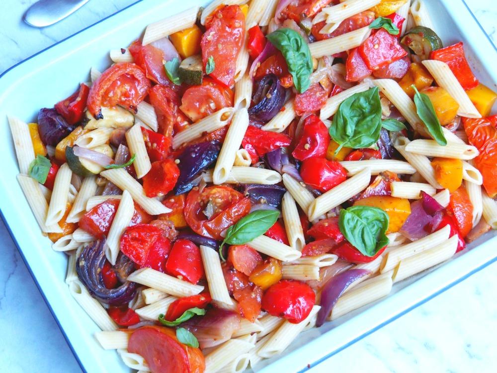 mediterranean veggie pasta 4