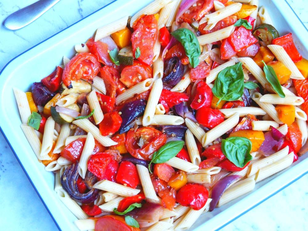 mediterranean veggie pasta 2