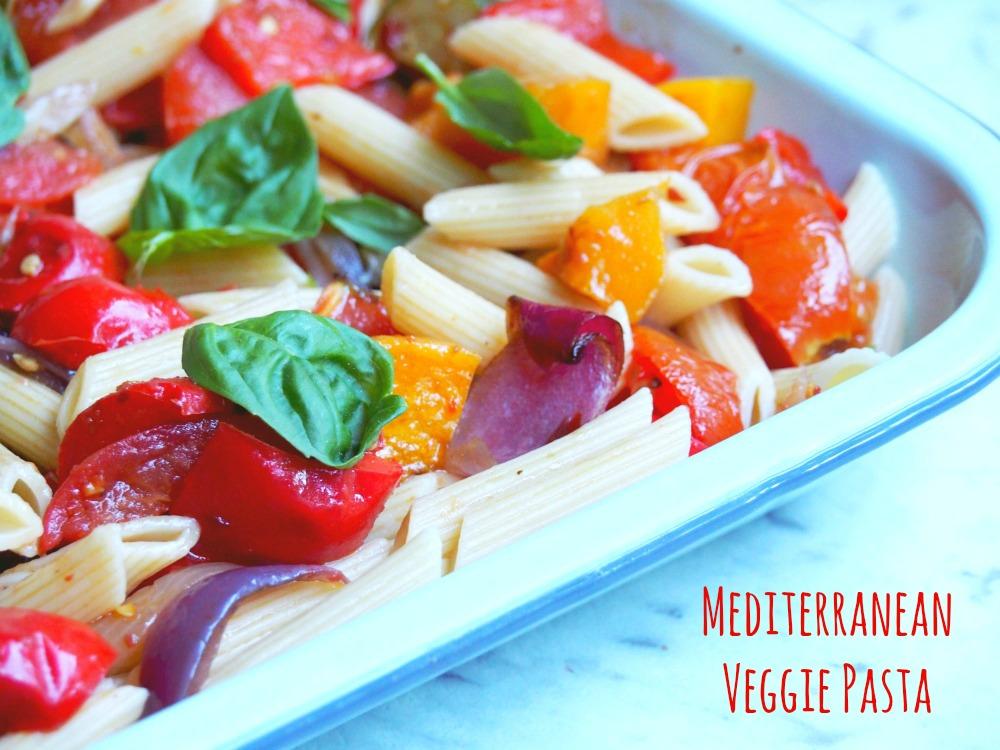 mediterranean veggie pasta 1