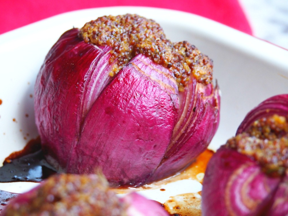 Mustardy Baked Onions 3