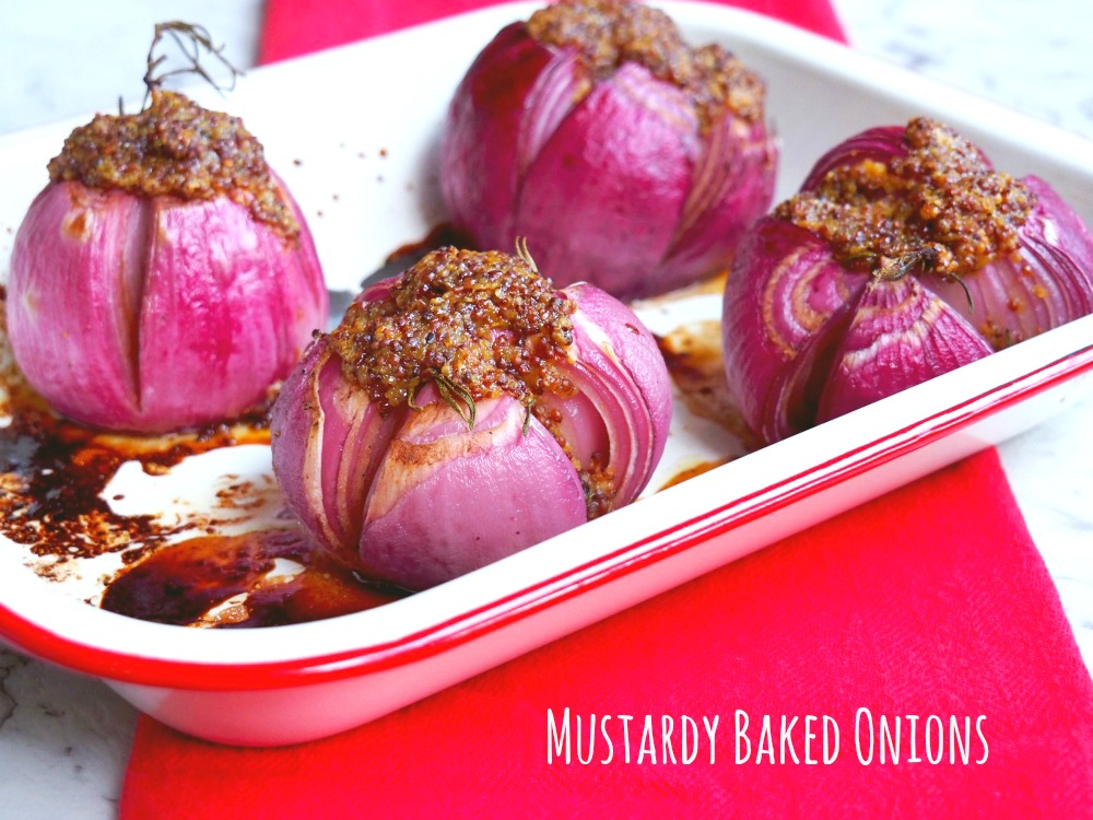 Mustardy Baked Onions 1