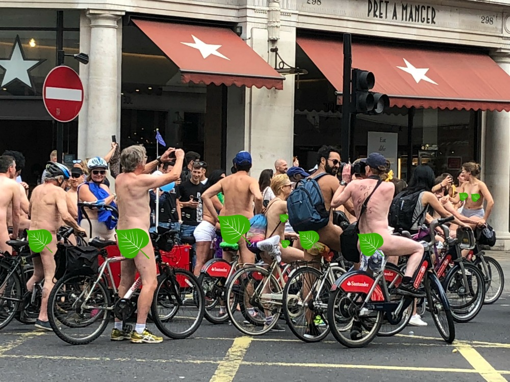 48 hours in London - naked bike ride