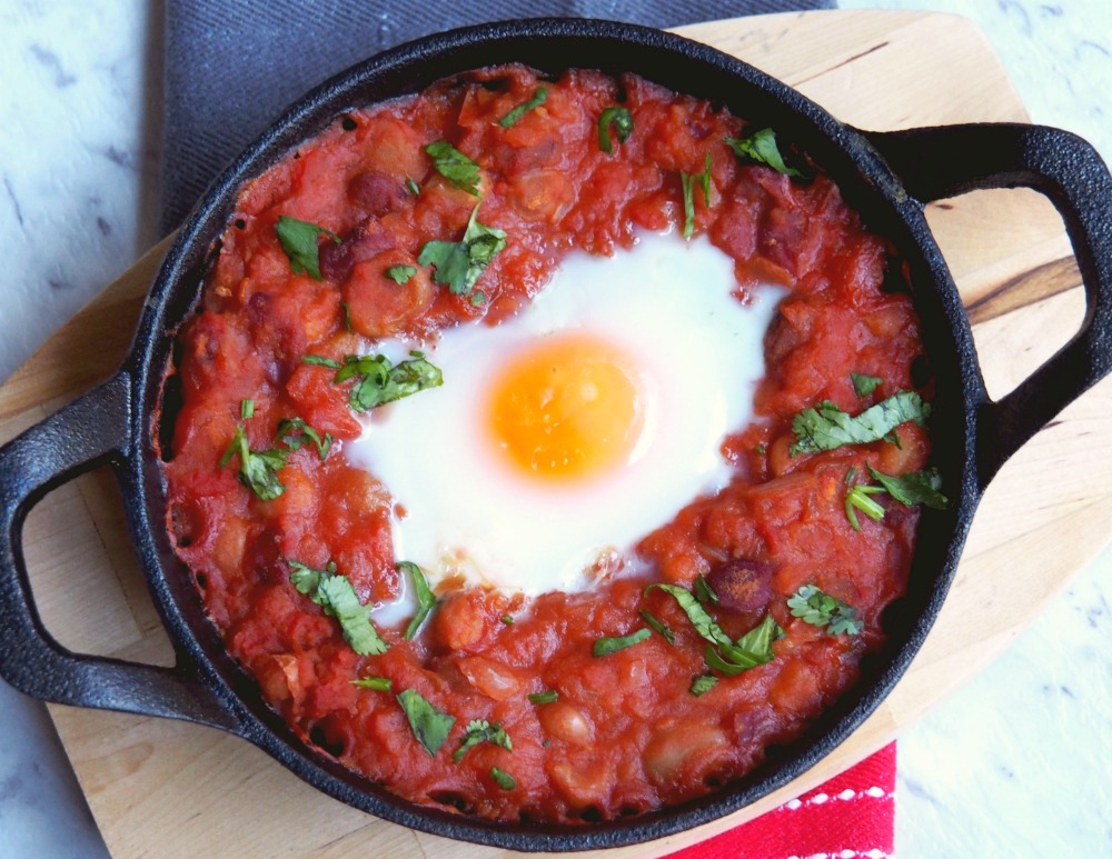 Baked Eggs and Mexican Beans 3
