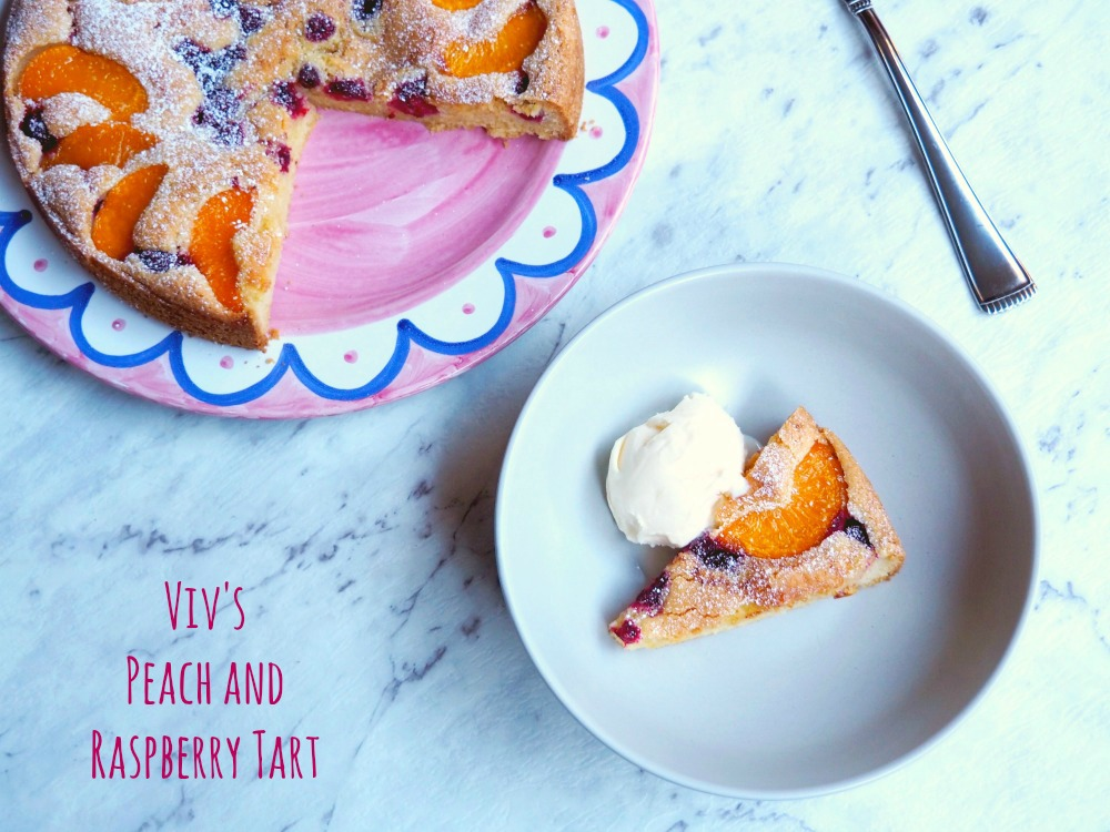 Viv's Peach and Raspberry Tart 7