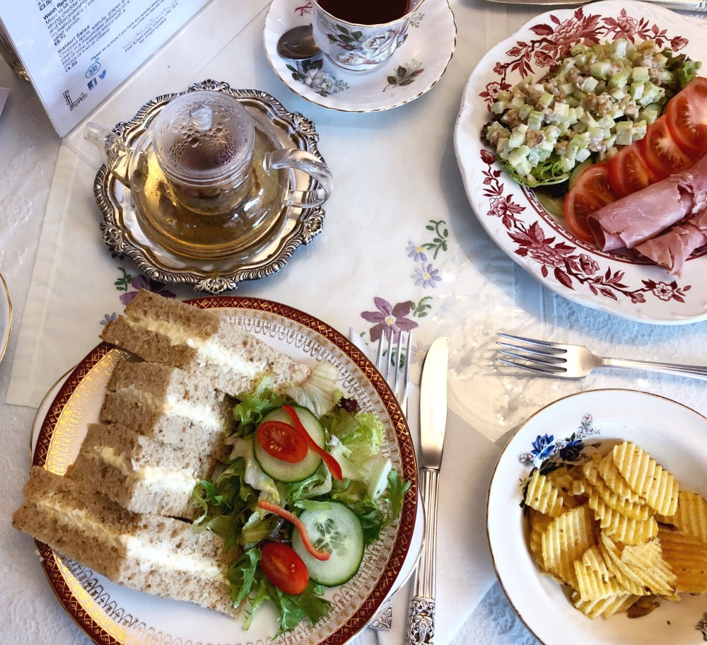 Lady Rose's Edwardian Tea Room - sandwiches and salad