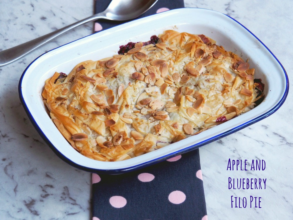 Apple and Blueberry Filo Pie
