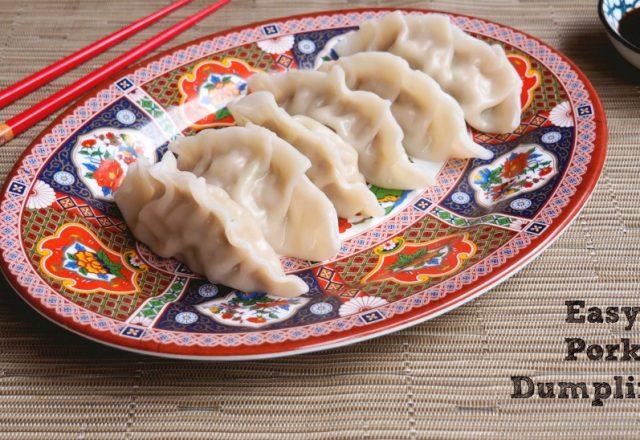 Steph's Easy Pork Dumplings
