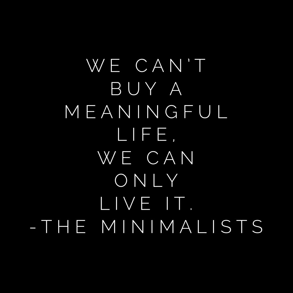The Minimalists quote