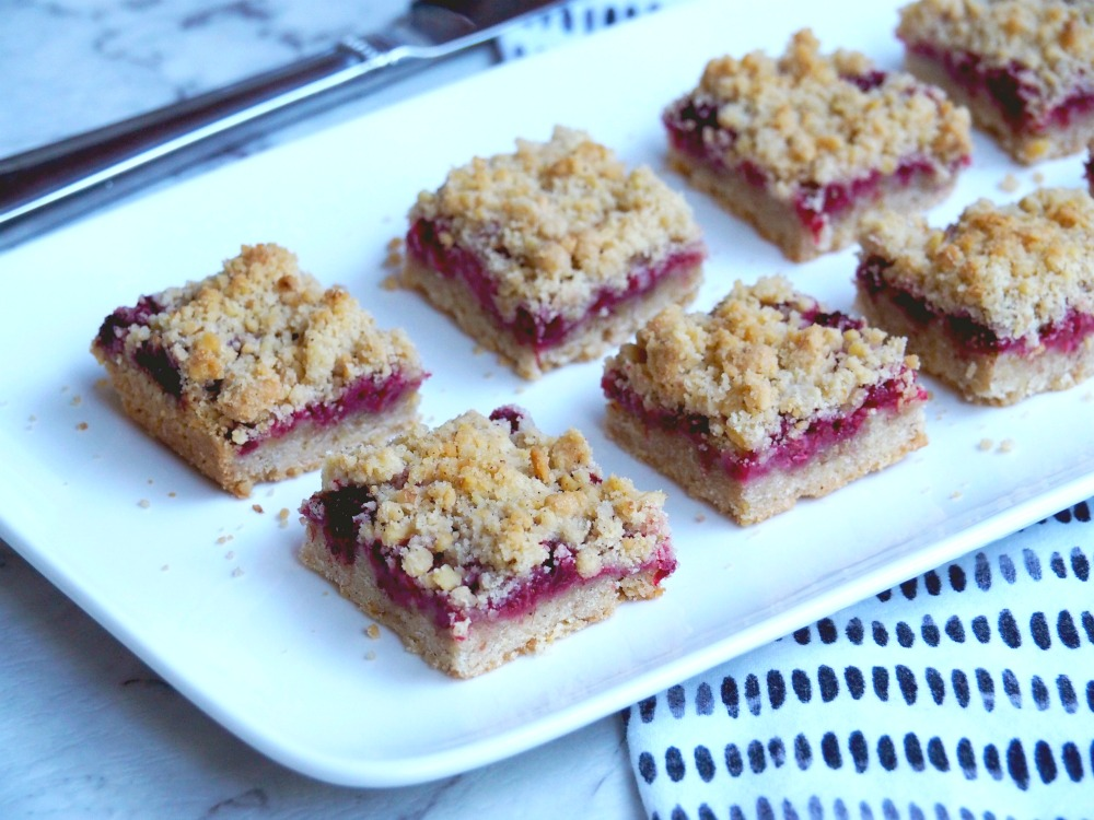 Raspberry and walnut squares 4