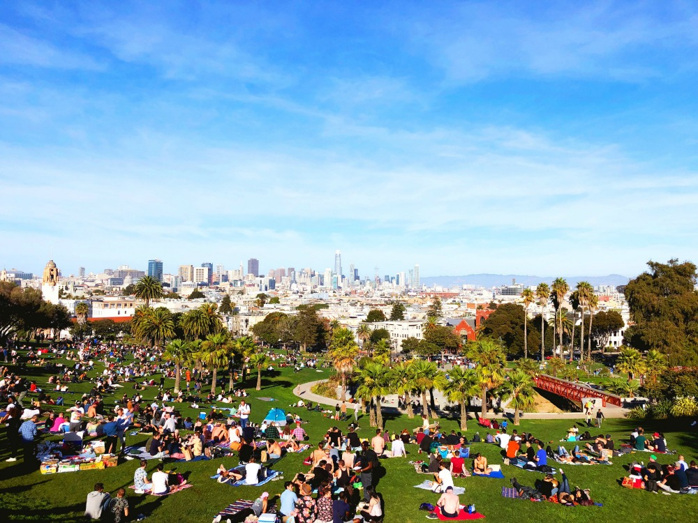 Things to see and do in SF -Dolores Park