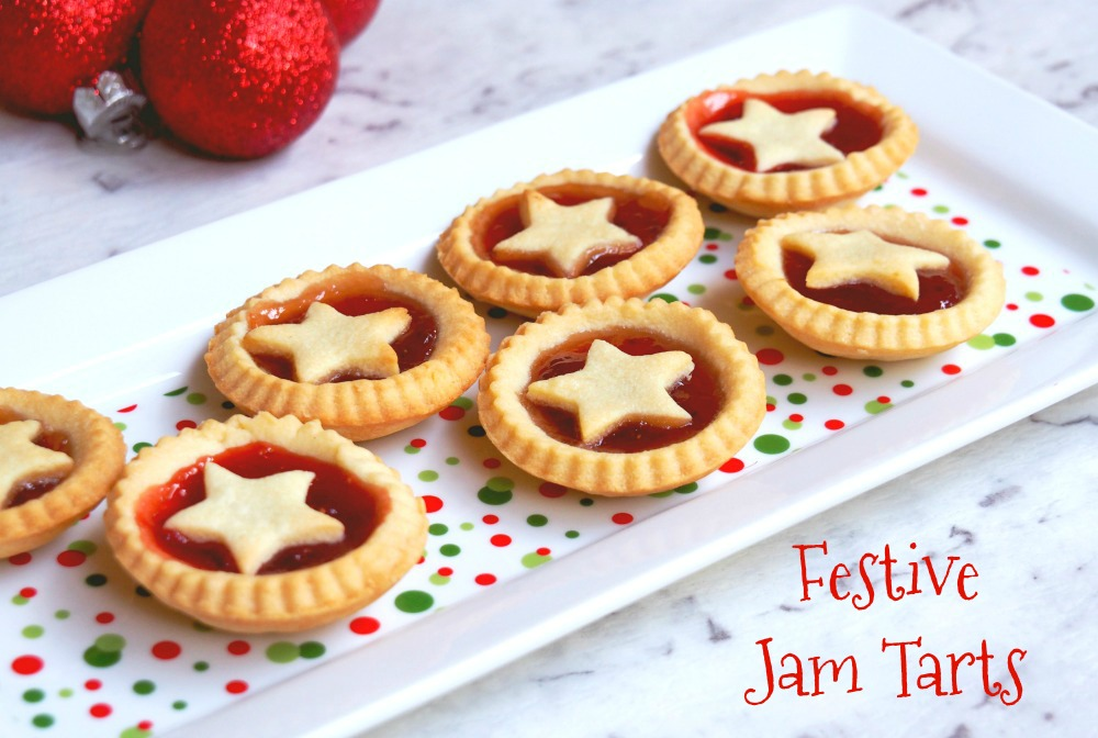 Festive jam tarts