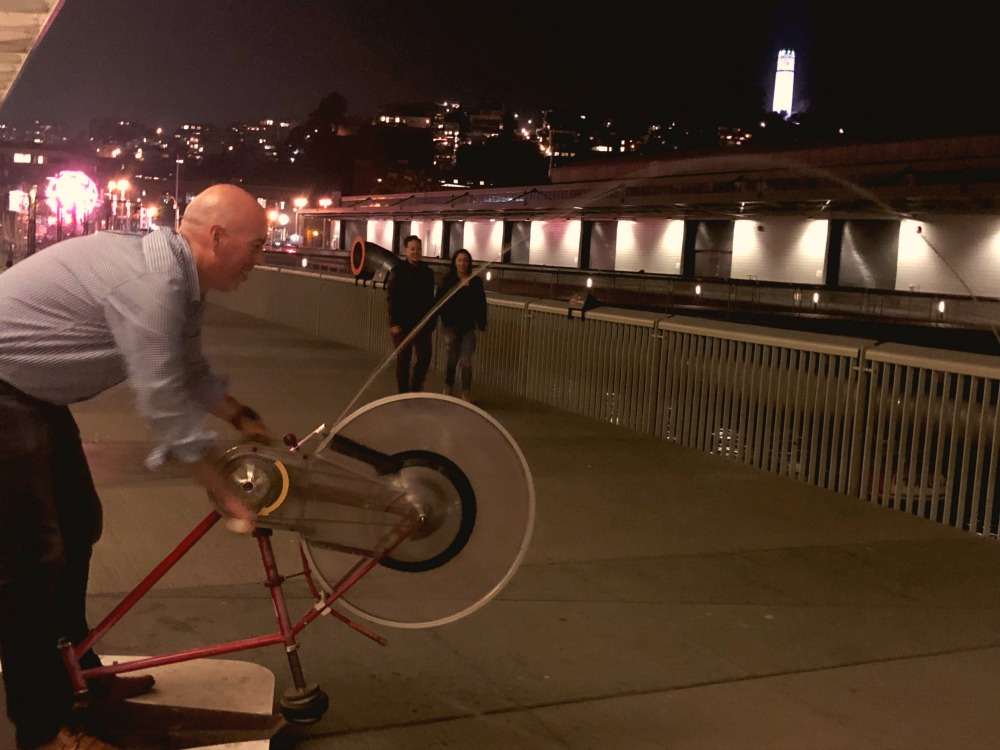 Exploratorium After Dark Bike Squirter