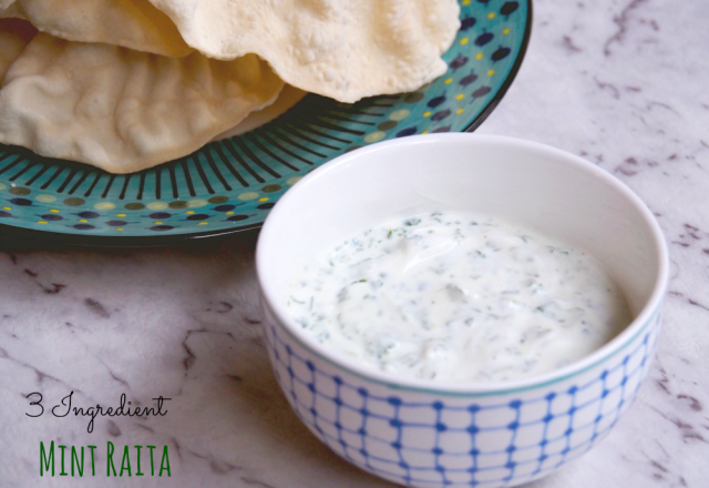 3 Ingrediet Mint Raita
