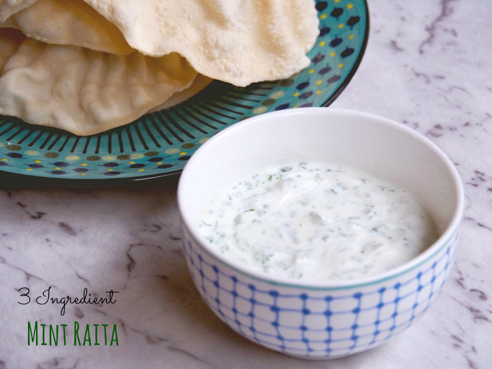 3 ingredient mint raita