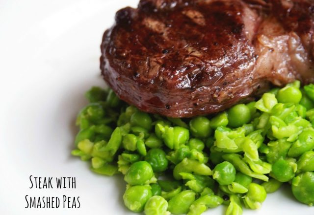 David's Steak with Smashed Peas