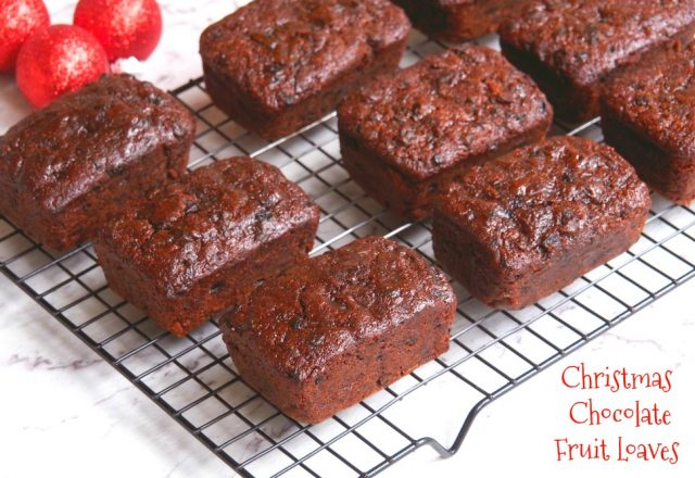 Christmas Chocolate Fruit Loaves