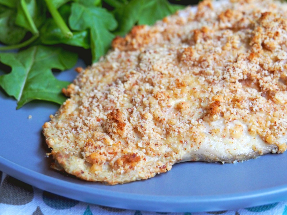 oven baked almond crumbed fish 4