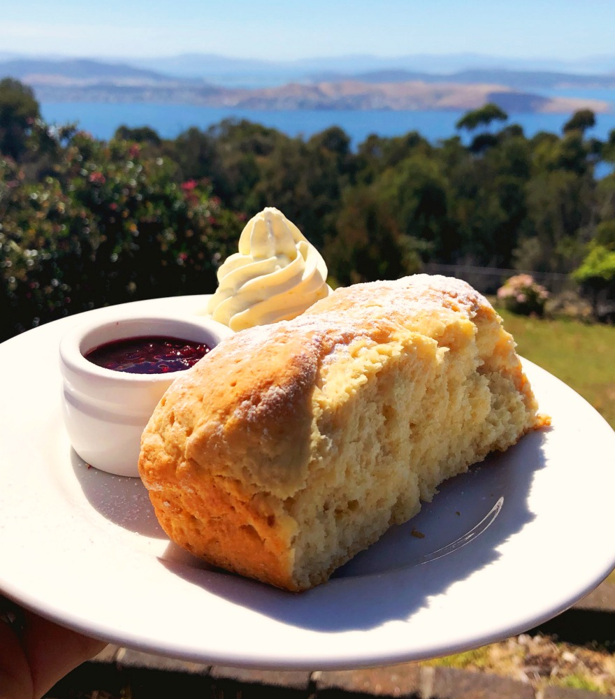 72 hours in Tasmania - Mount Nelson scones