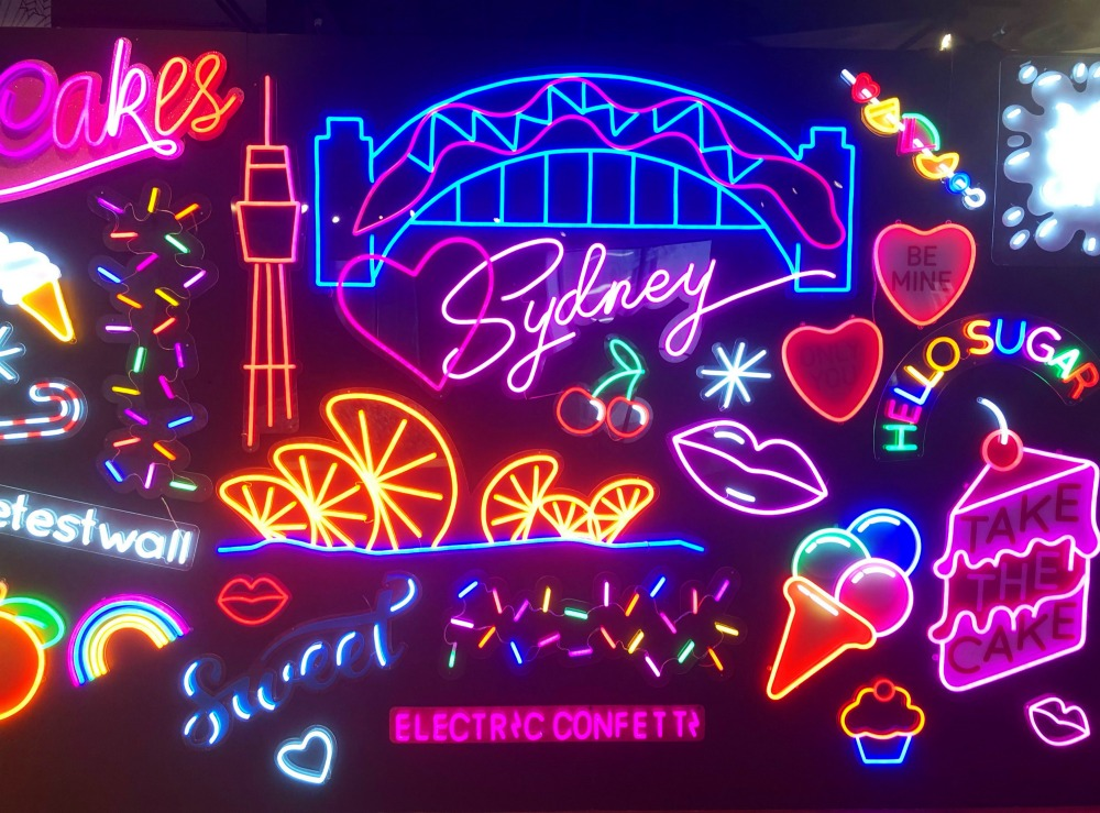 Sugar Republic Sydney - neon wall