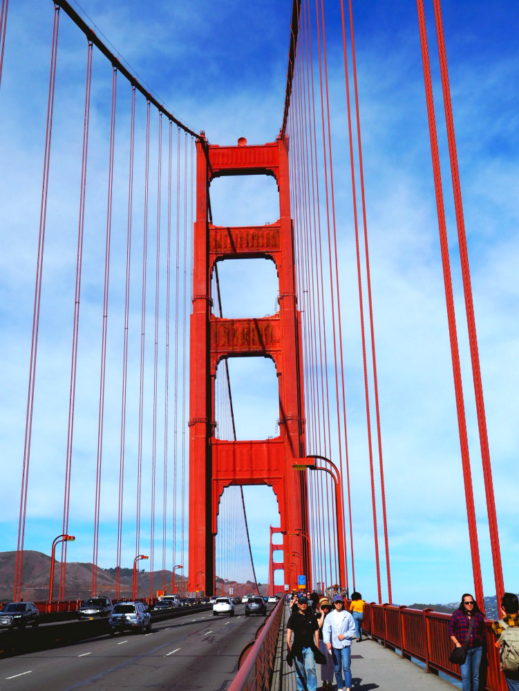 Things to do in SF walk the Golden Gate Bridge