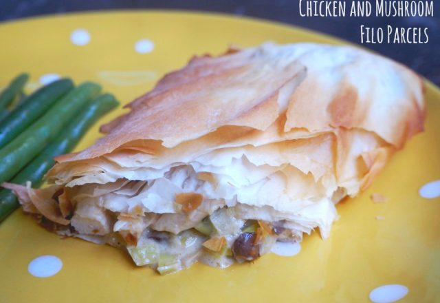 Chicken and Mushroom Filo Parcels