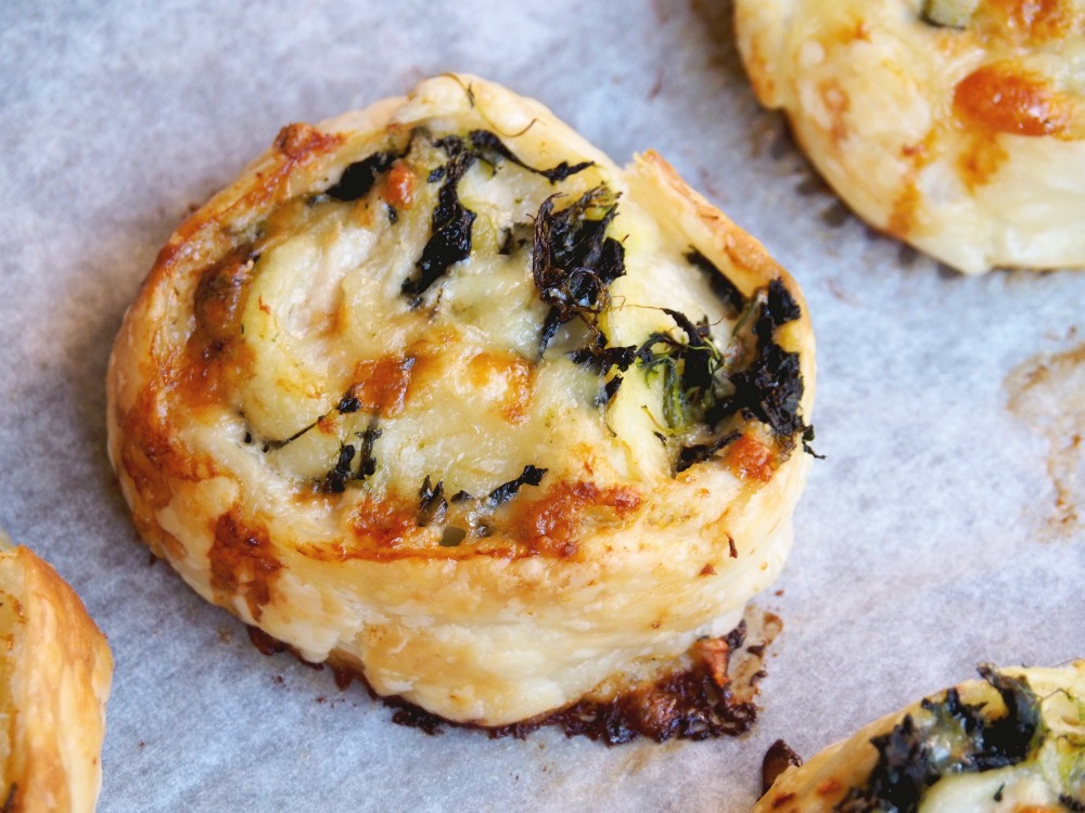 Cheesy Chicken Mustard and Spinach Scrolls 5