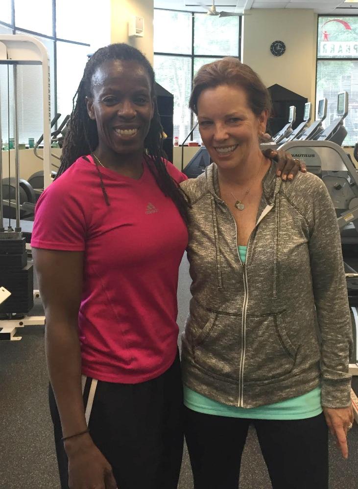 She's so inspiring - Martha Hall Kelly training