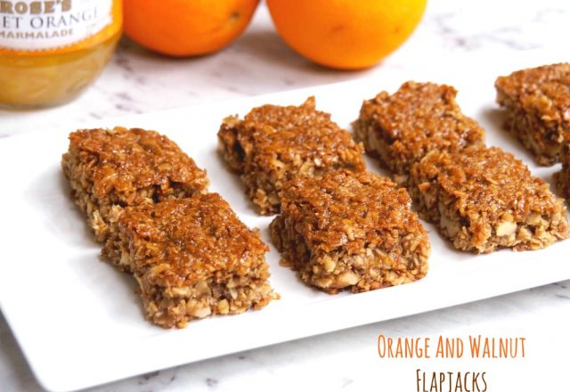 Orange and Walnut Flapjacks