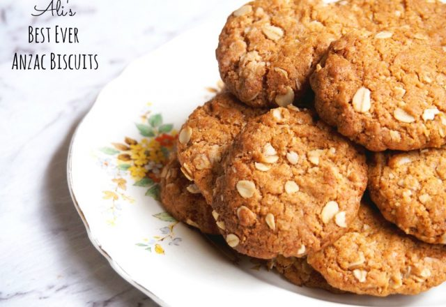 Ali's Best Ever Anzac Biscuits