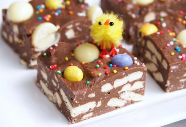 No Bake Easter Hedgehog Slice