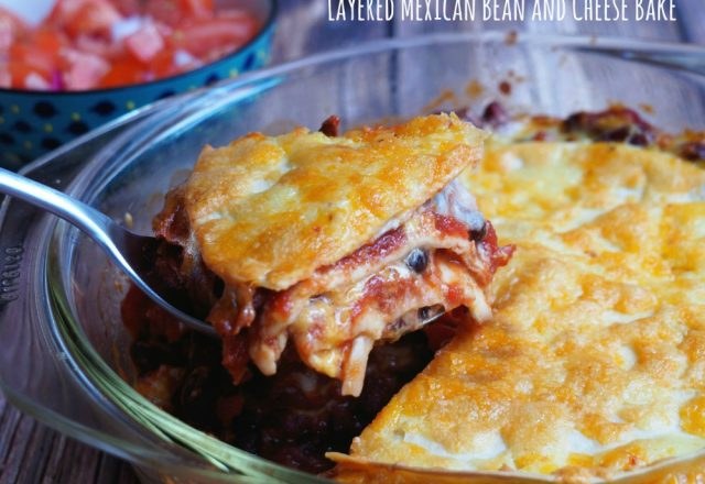 Meatless Monday – Layered Mexican Bean and Cheese Bake