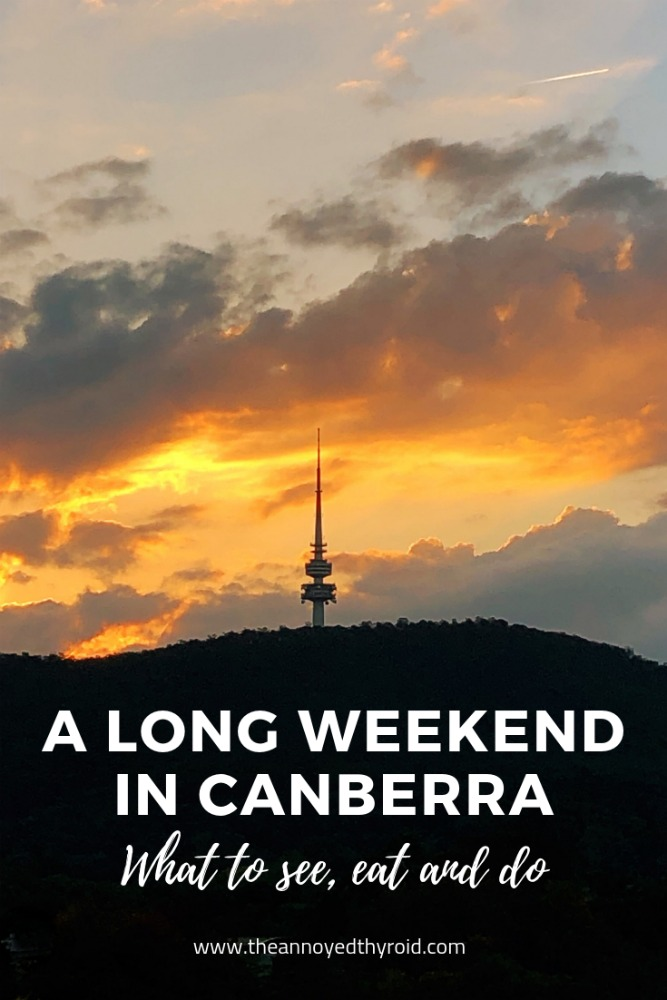 a long weekend in canberra