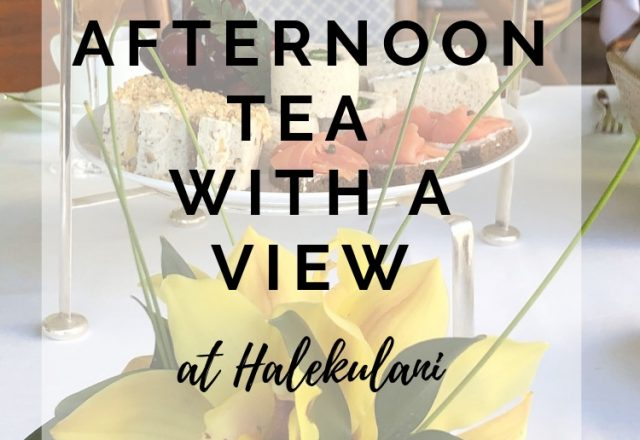 Afternoon Tea With a View at Halekulani