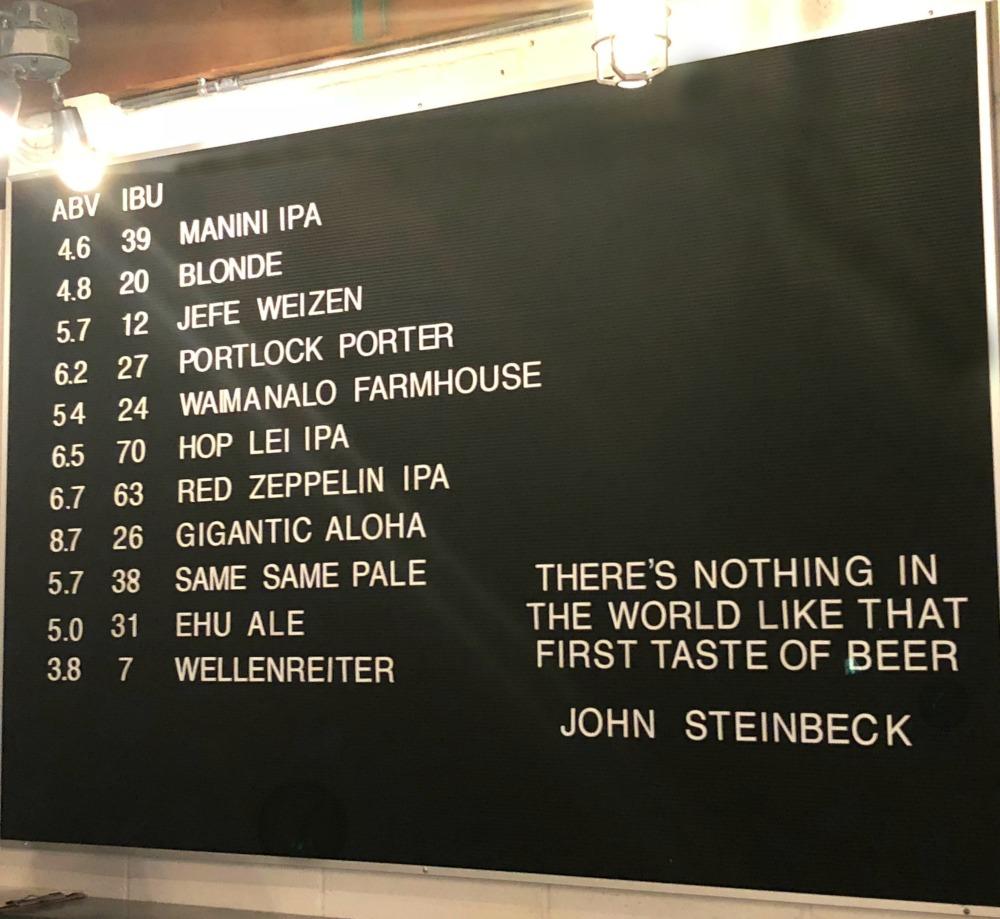 honolulu-beer-crawl-aloha-beer-list
