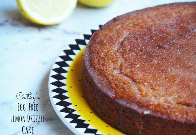 Cathy's Egg-Free Lemon Drizzle Cake