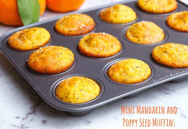 Mini Mandarin and Poppyseed Muffins