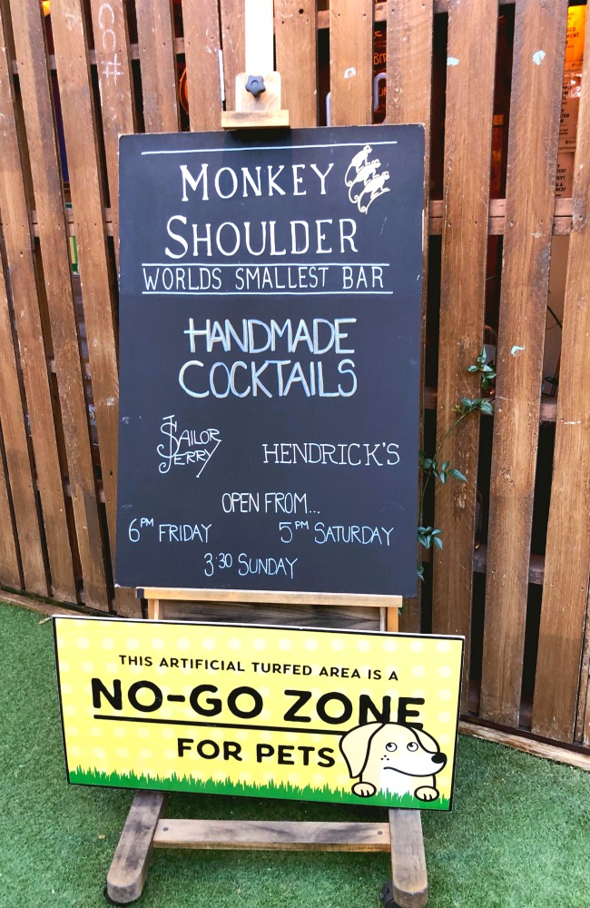 monkey shoulder cocktail bar