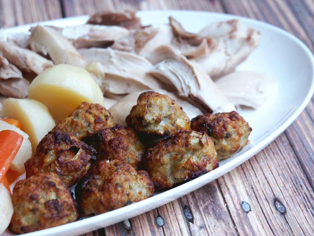 sage onion leek stuffing balls