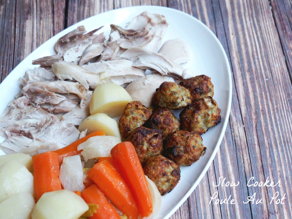 slow cooker poule au pot