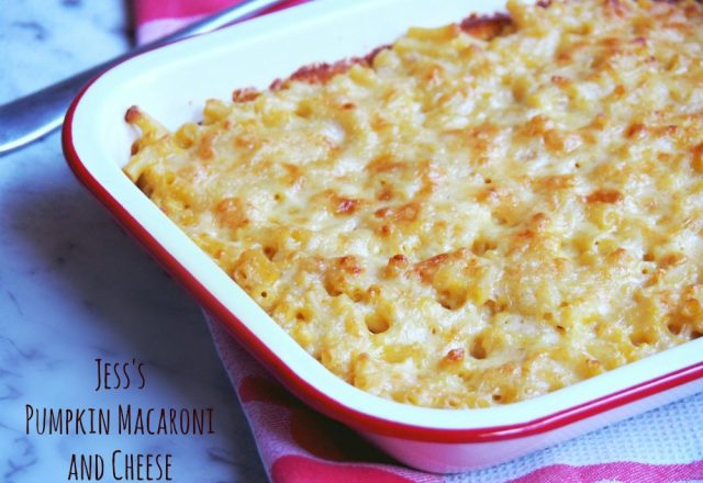 Meatless Monday – Jess's Pumpkin Macaroni and Cheese