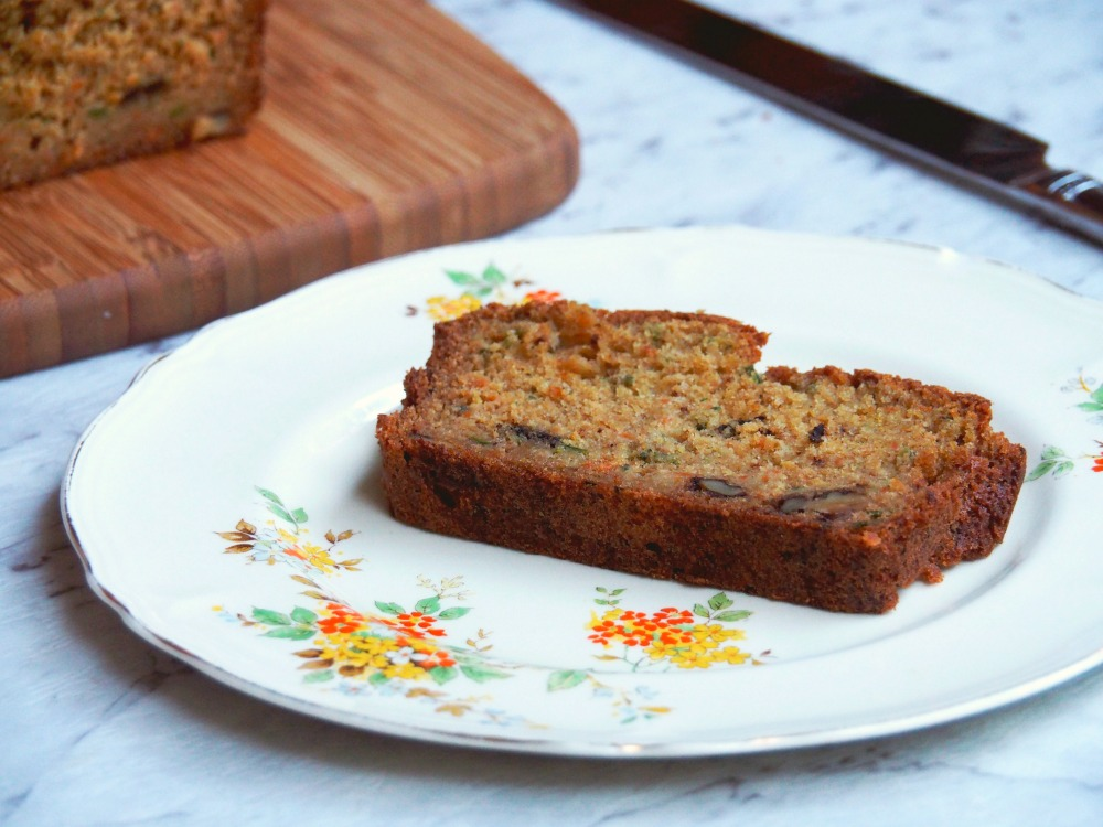 carrot zucchini orange loaf