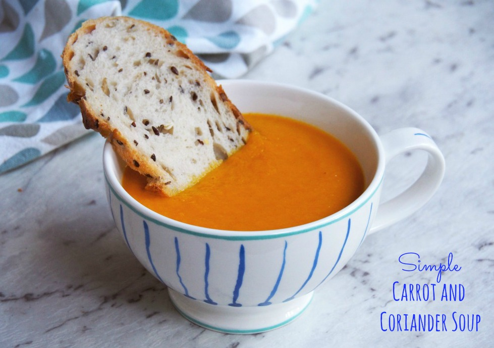simple carrot and coriander soup