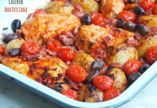 Chicken Amatriciana Tray Bake